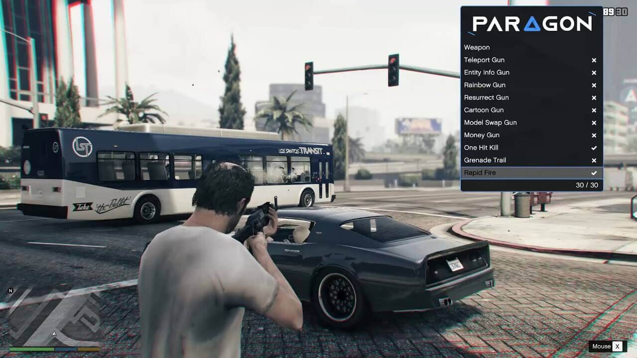 GTA 5 Online gameplay with Paragon trainer cheats
