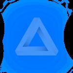 paragon blue triangle icon